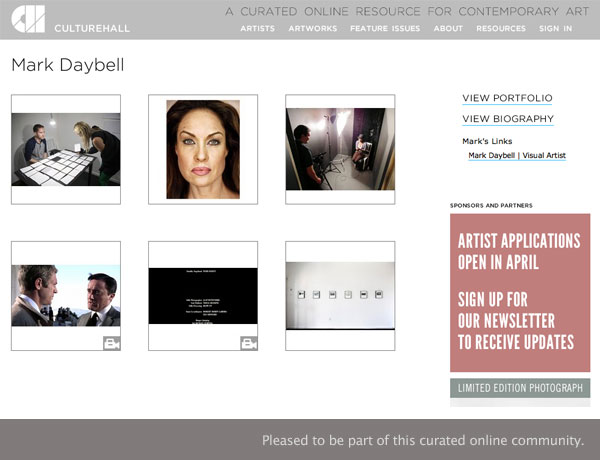 Announcement for Culture Hall – A Curated Online Resource for Contemporary Art