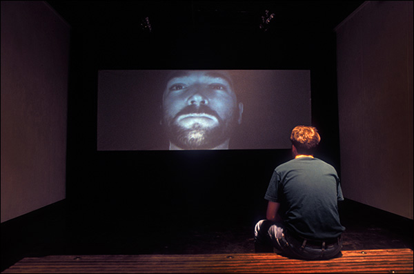 "Installation view of video ""John"""