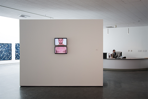 "Installation view of video and sound installation ""Only When I Breathe"""