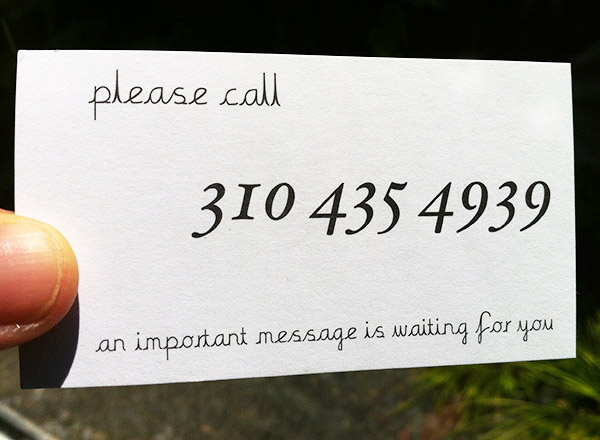 Please Call - An Important Message is Waiting for You Example #2